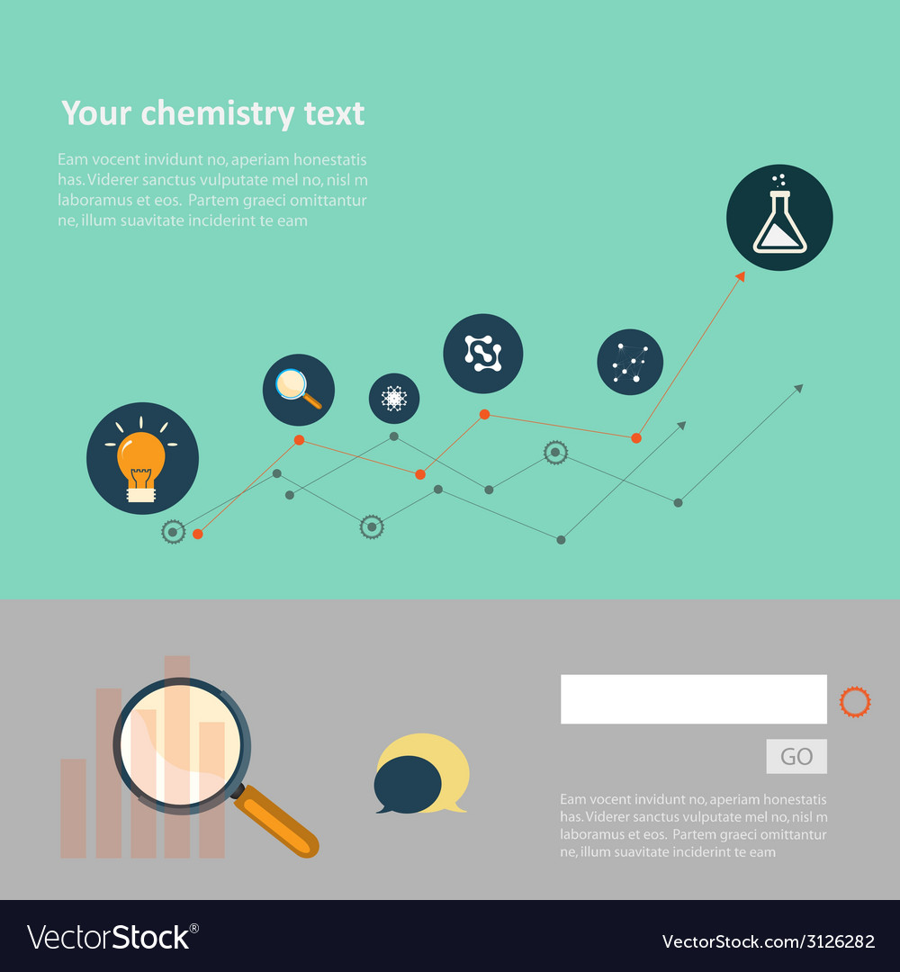 Set of flat design concepts for web and printing vector | Price: 1 Credit (USD $1)