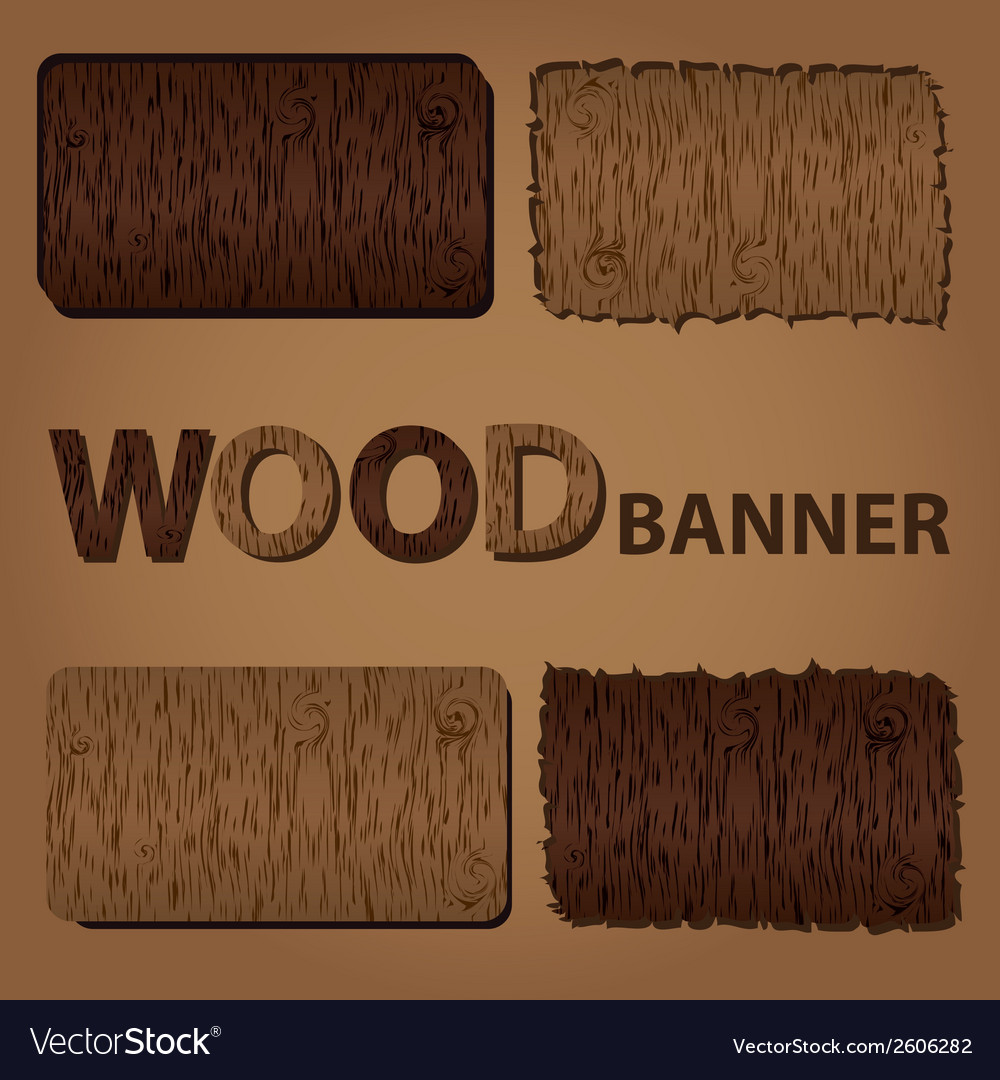 Wood texture banners eps10 vector   Price: 1 Credit (USD $1)