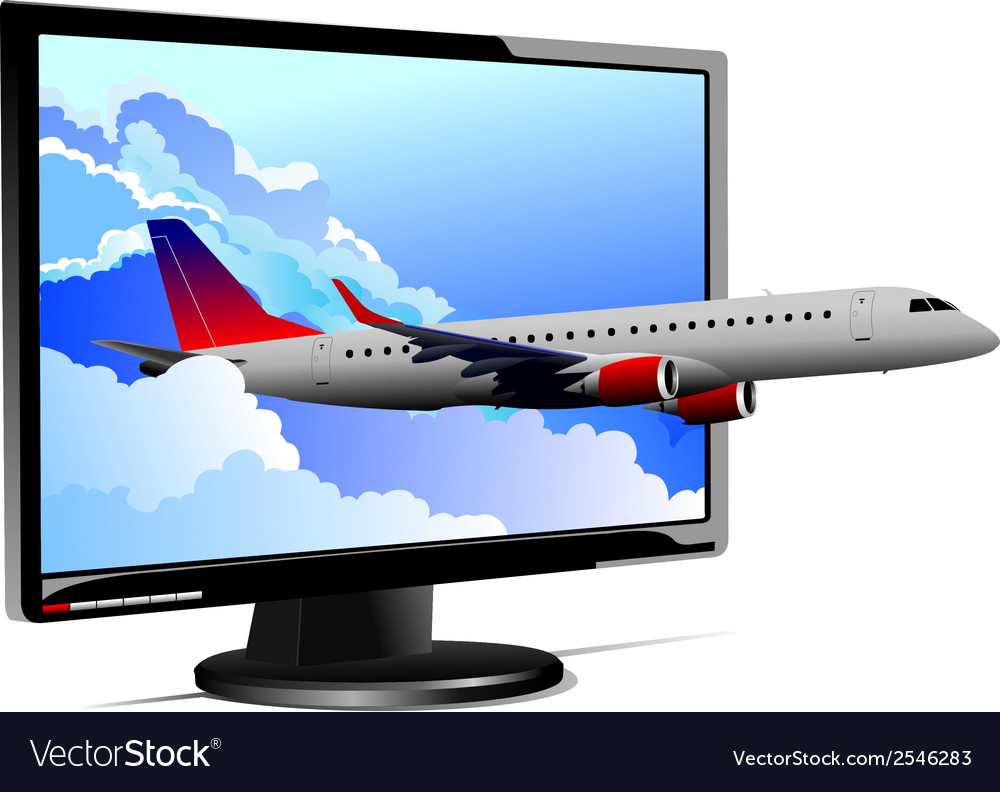Al 0812 plane with screen 01 vector | Price: 1 Credit (USD $1)