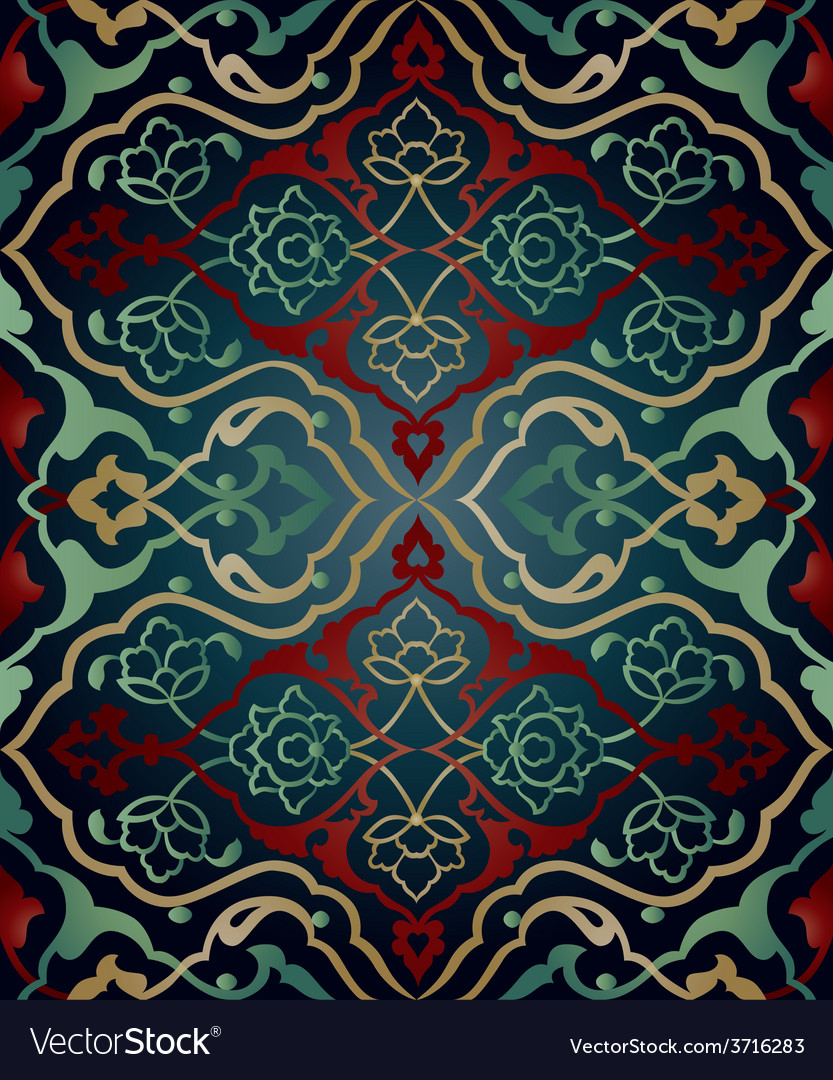 Artistic ottoman pattern series sixty two vector | Price: 1 Credit (USD $1)