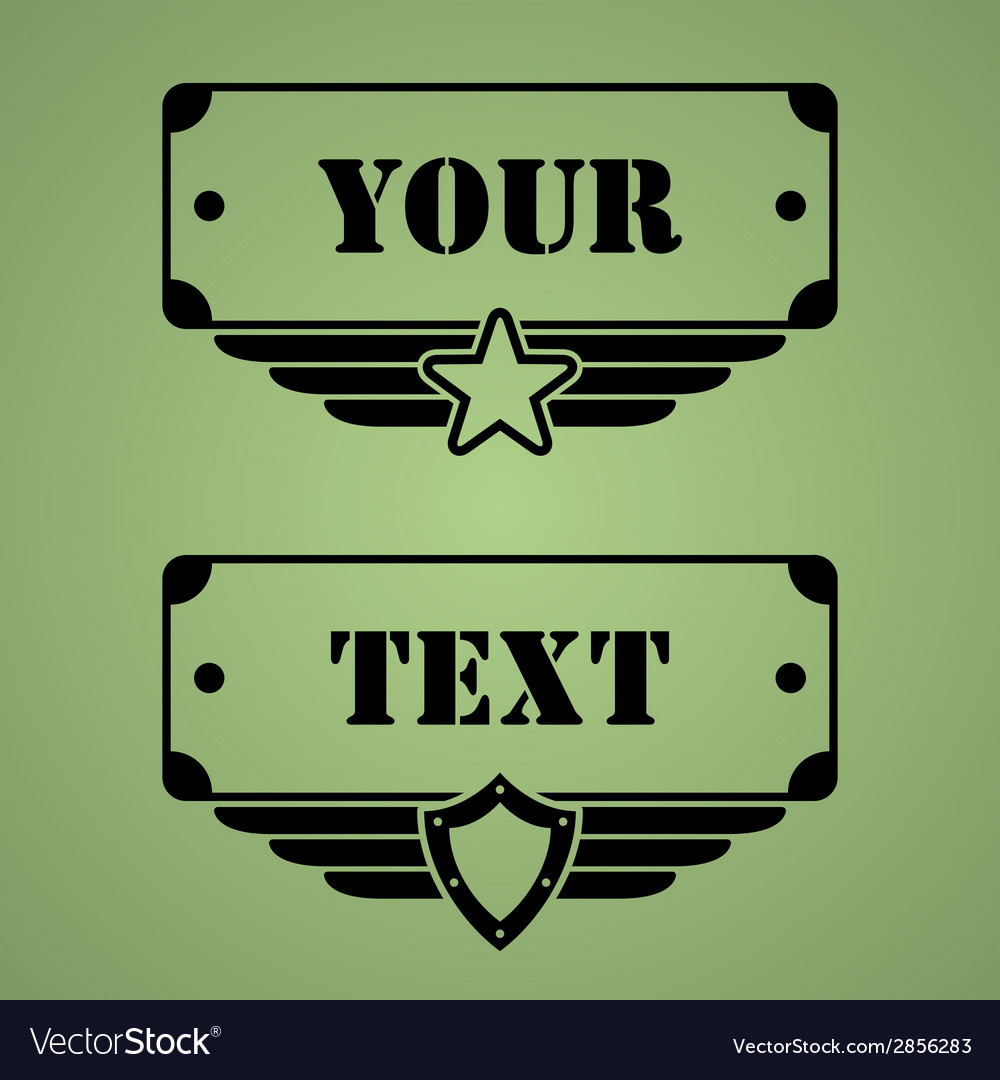 Military style tags vector | Price: 1 Credit (USD $1)