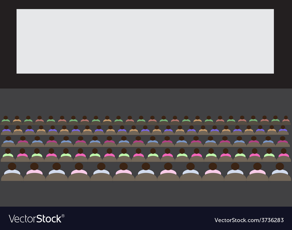 People watching movie1 01 vector | Price: 1 Credit (USD $1)