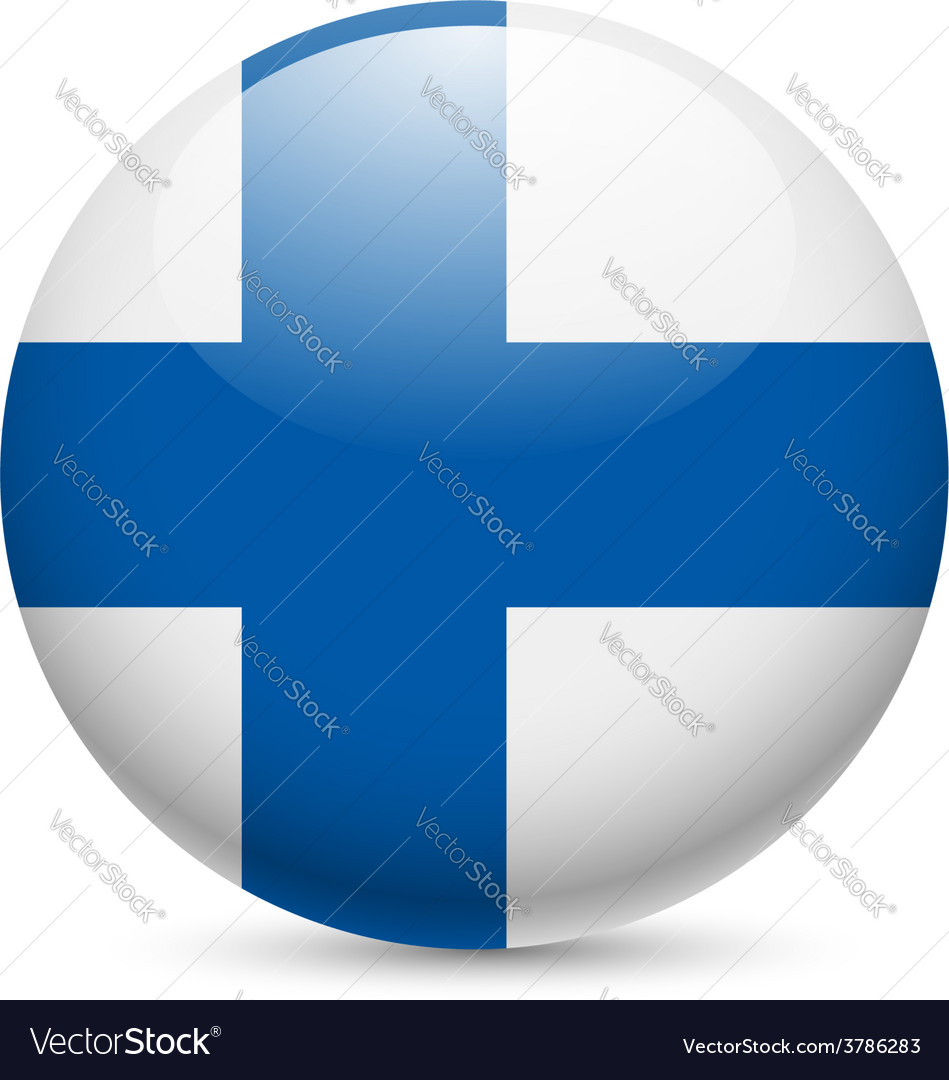 Round glossy icon of finland vector | Price: 1 Credit (USD $1)