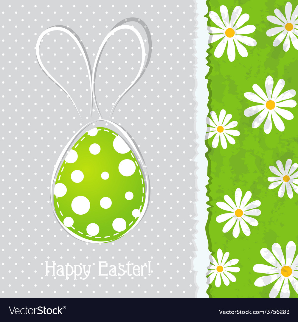 Template easter greeting card vector | Price: 1 Credit (USD $1)