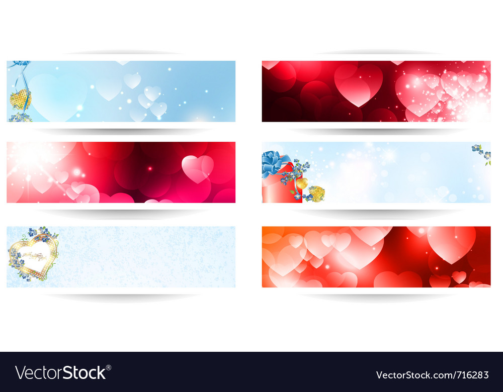 Valentines web banner set vector | Price: 3 Credit (USD $3)