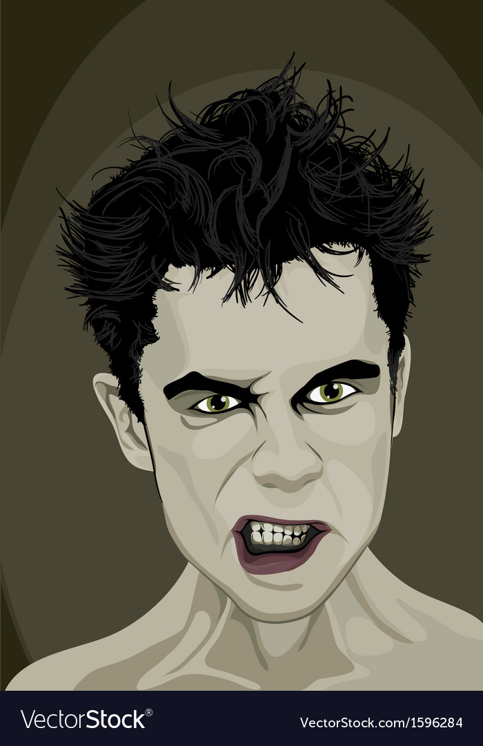 Angry man vector | Price: 1 Credit (USD $1)