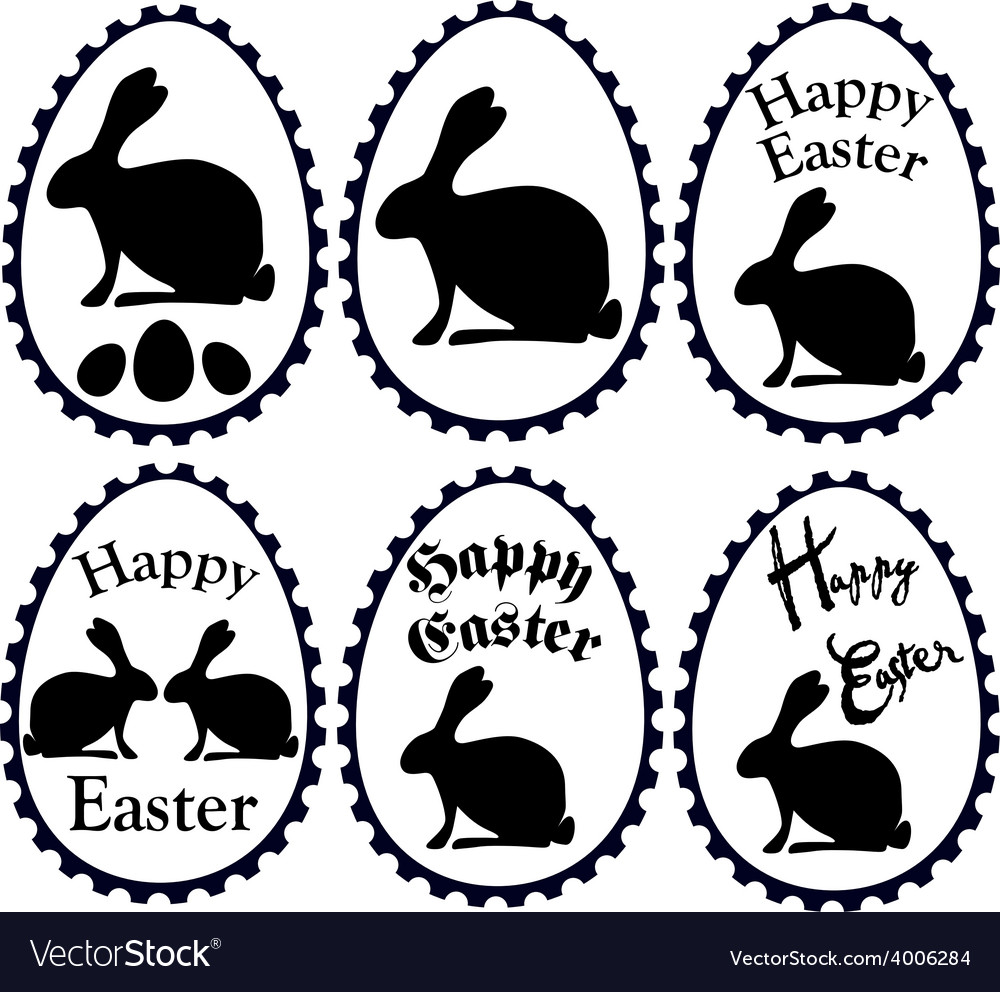 Black easter eggs vector | Price: 1 Credit (USD $1)