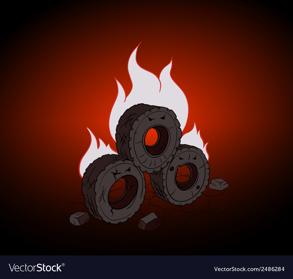Blazing tires vector | Price: 1 Credit (USD $1)