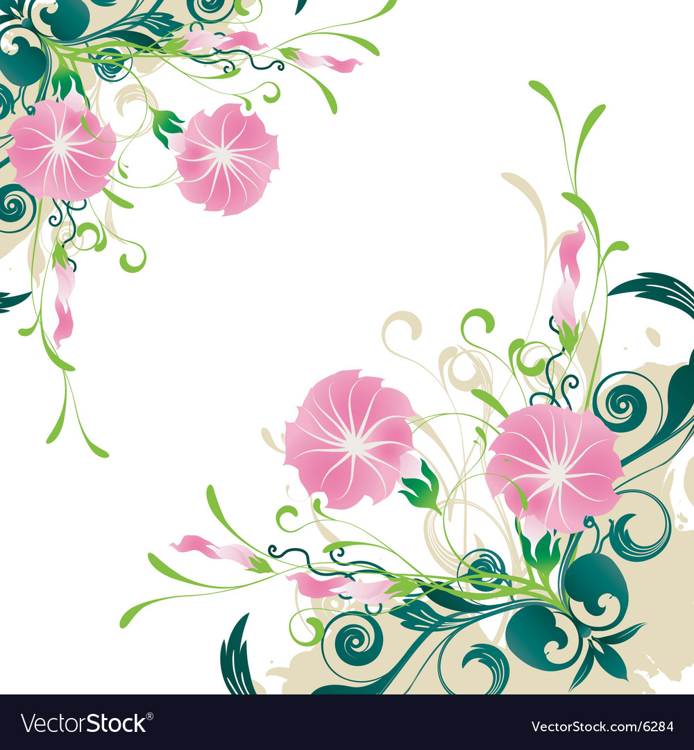 Floral graphic elements vector | Price: 1 Credit (USD $1)