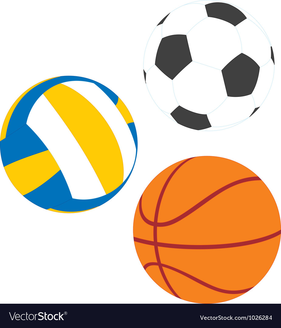 Football basketball and volleyball vector | Price: 1 Credit (USD $1)
