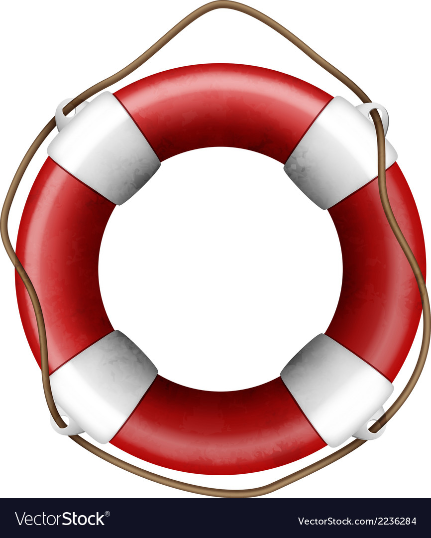 Lifebuoy isolated vector | Price: 1 Credit (USD $1)