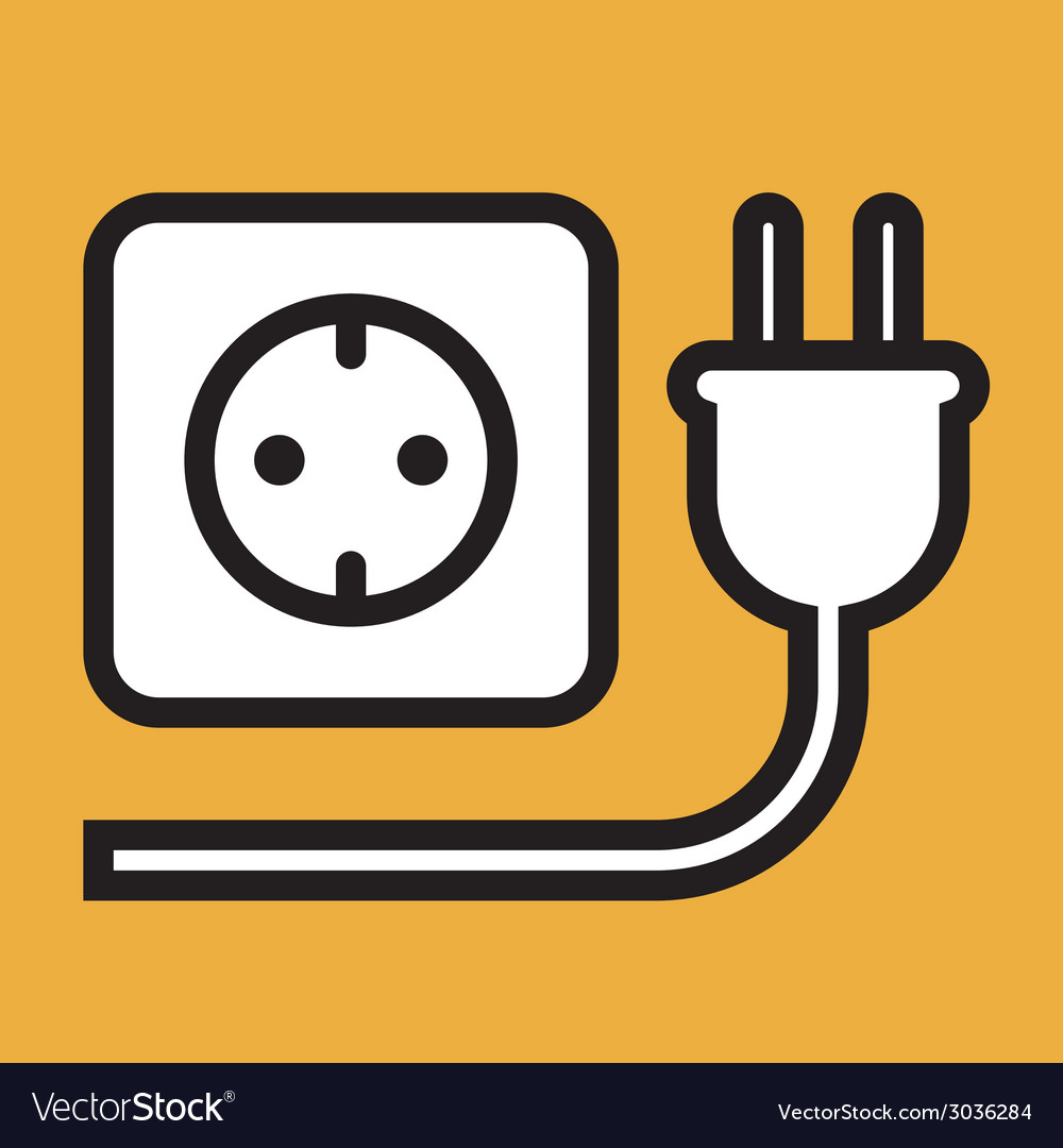 Plug and socket icon vector | Price: 1 Credit (USD $1)