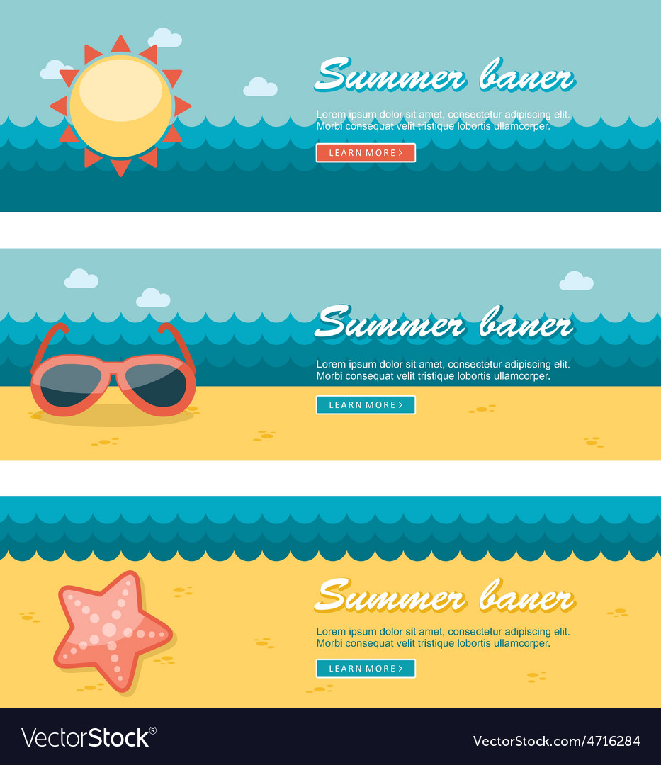 Travel and vacation banners vector | Price: 1 Credit (USD $1)