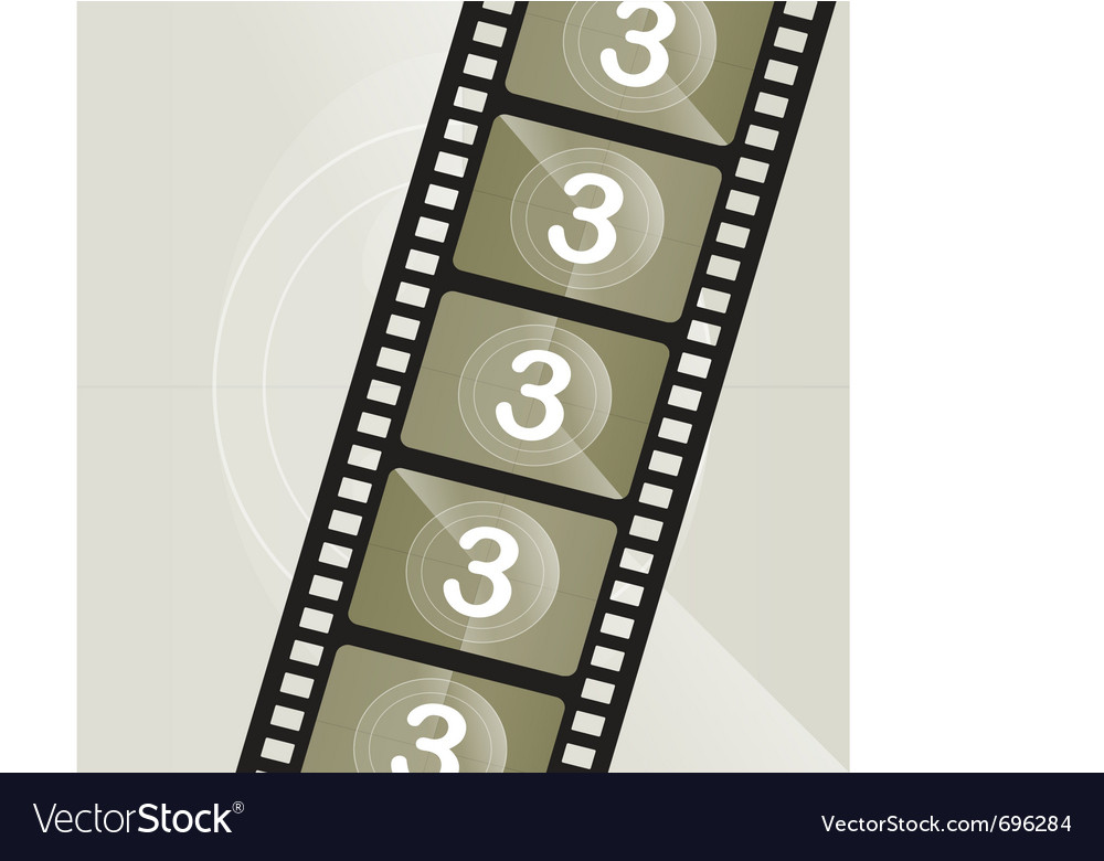 Vintage film roll vector | Price: 1 Credit (USD $1)
