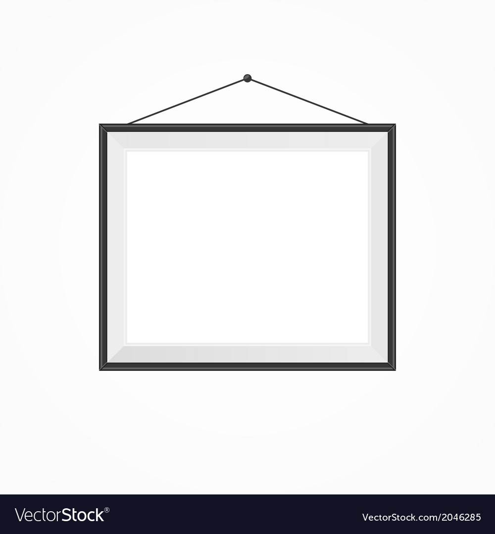 Blank frame on a white vector | Price: 1 Credit (USD $1)