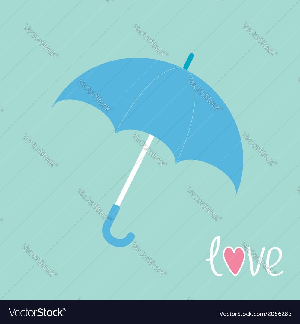 Blue umbrella love card vector | Price: 1 Credit (USD $1)