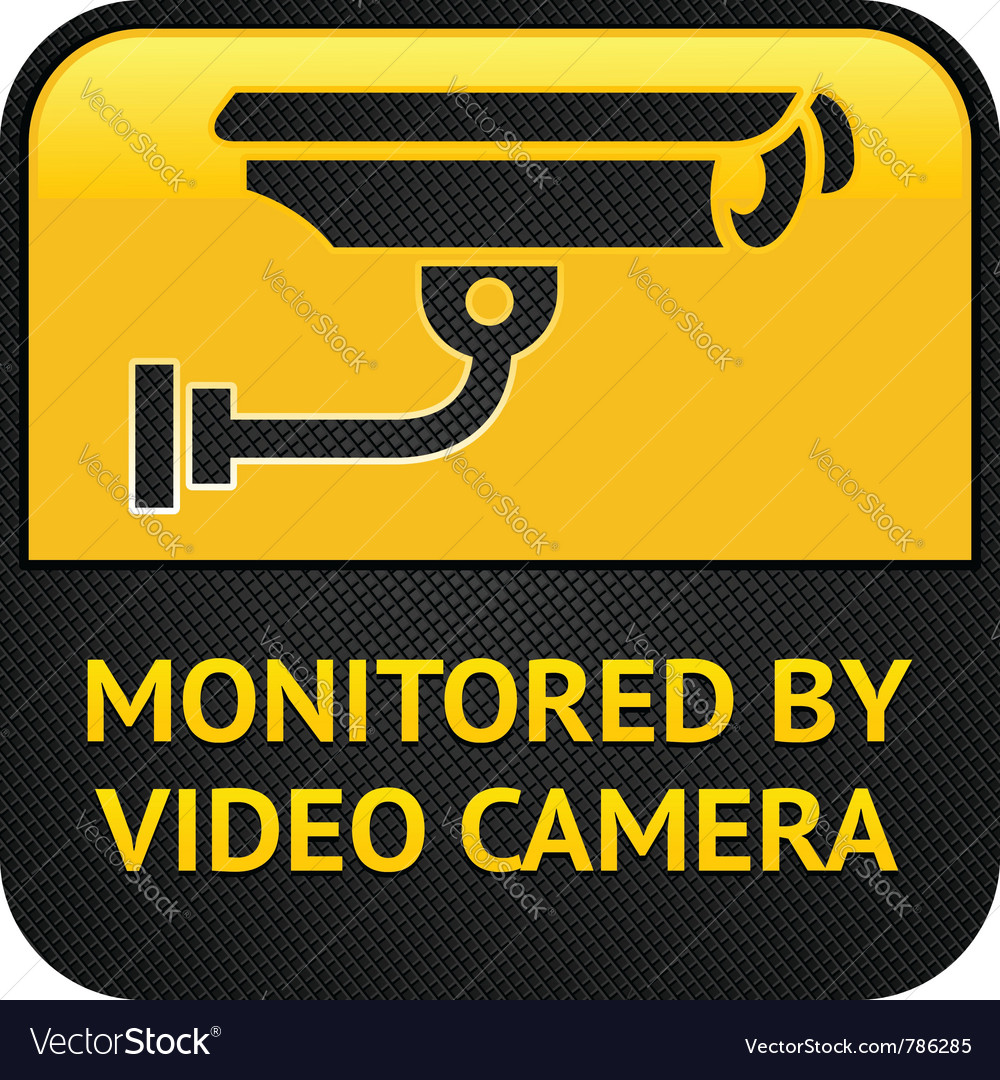 Cctv pictogram web button vector | Price: 1 Credit (USD $1)