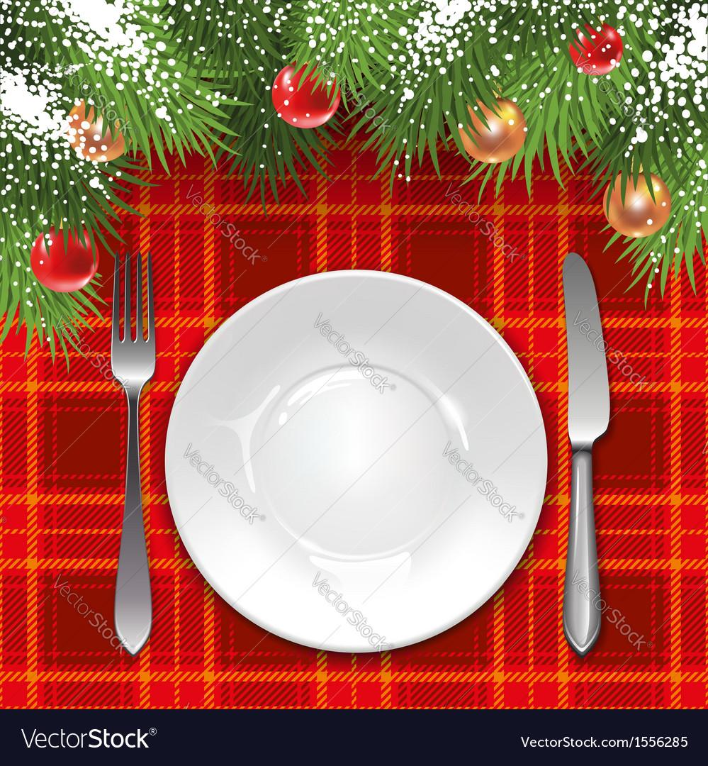 Christmas menu template vector | Price: 1 Credit (USD $1)