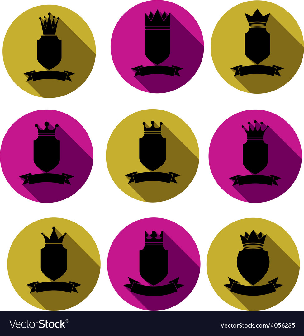 Decorative black coat of arms protection theme vector | Price: 1 Credit (USD $1)