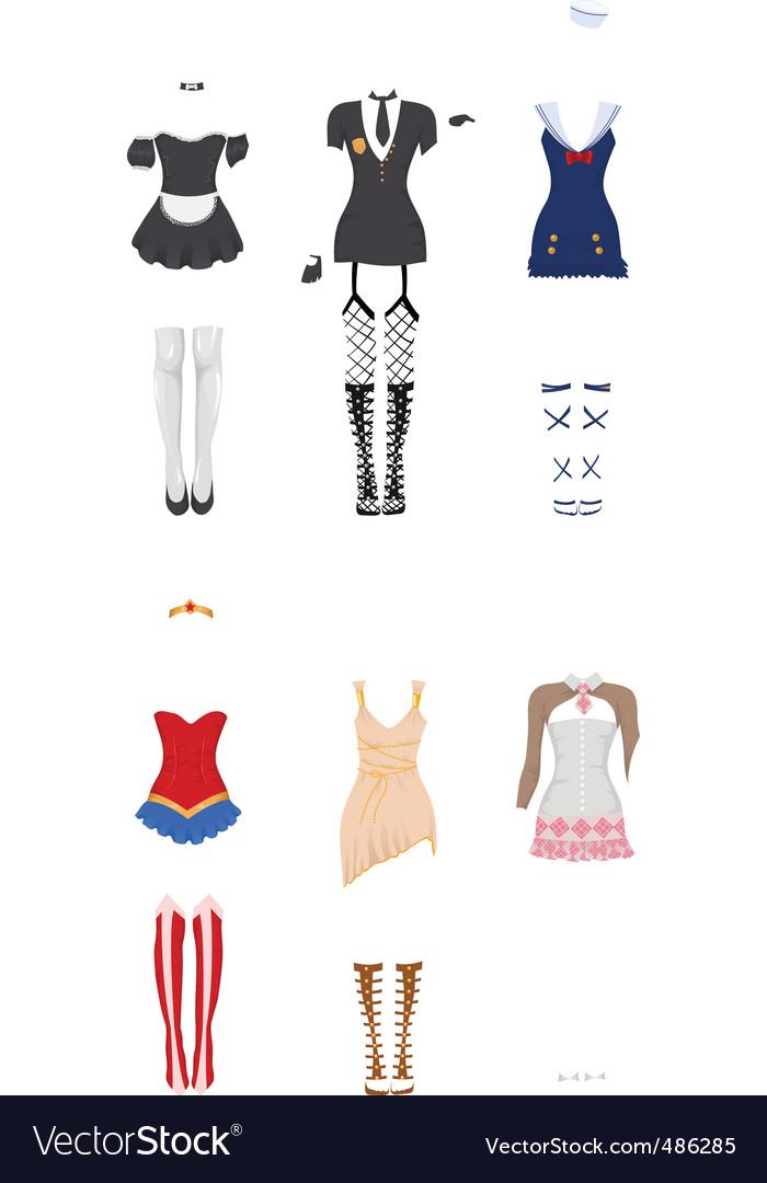 Female carnival costumes vector | Price: 1 Credit (USD $1)