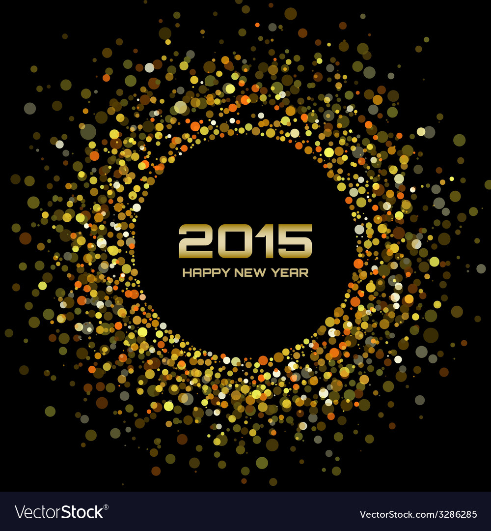 Gold bright new year 2015 background vector | Price: 1 Credit (USD $1)