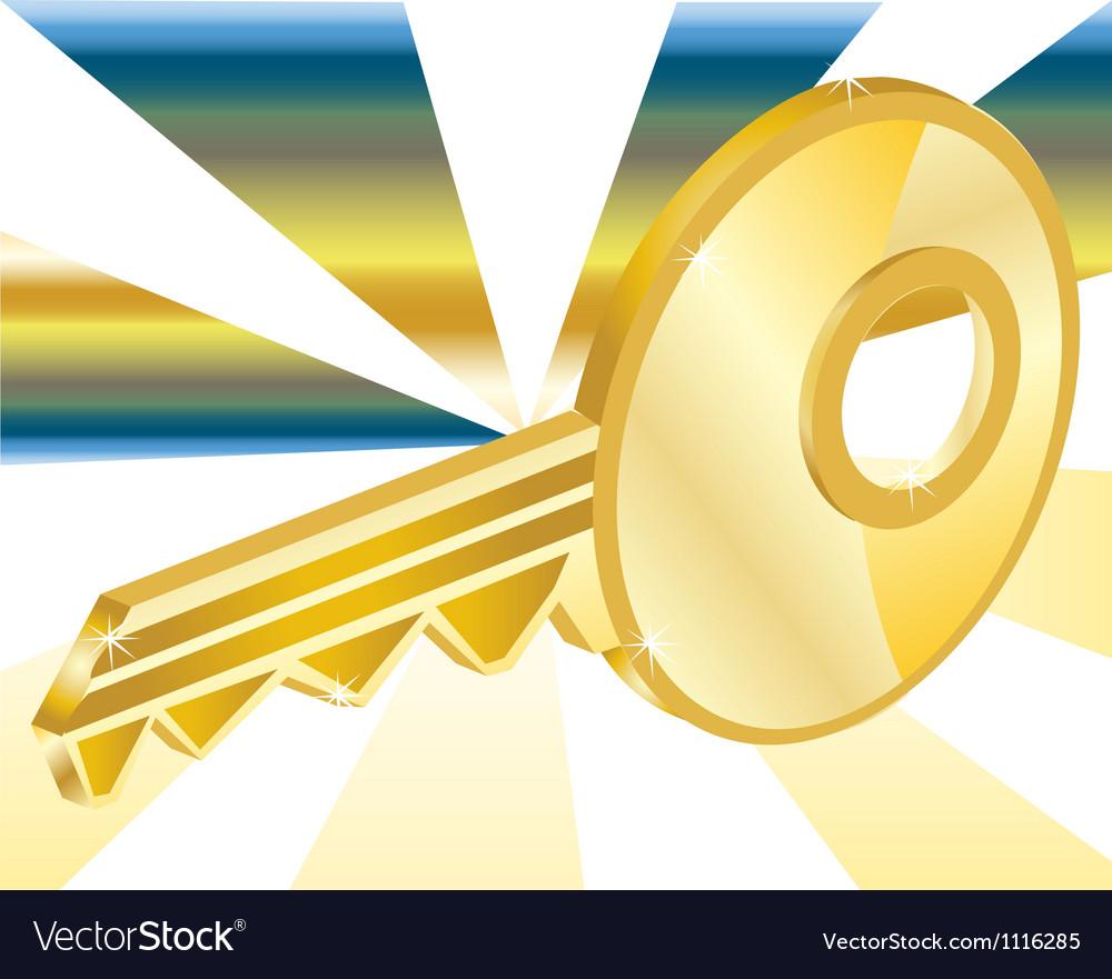 Golden key vector | Price: 1 Credit (USD $1)