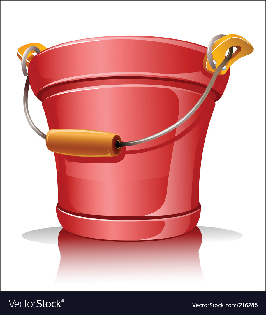 Metallic bucket vector | Price: 1 Credit (USD $1)