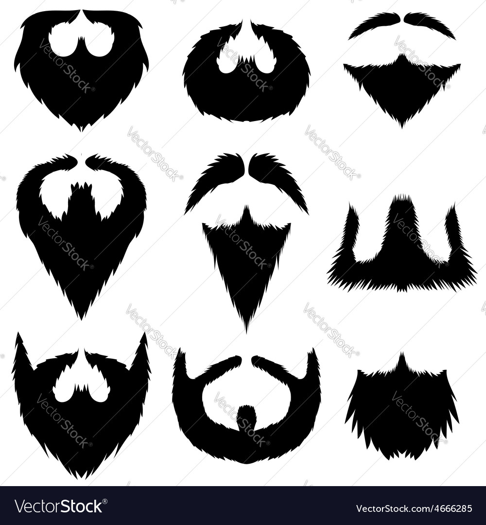 Mustaches and beards collection vector | Price: 1 Credit (USD $1)