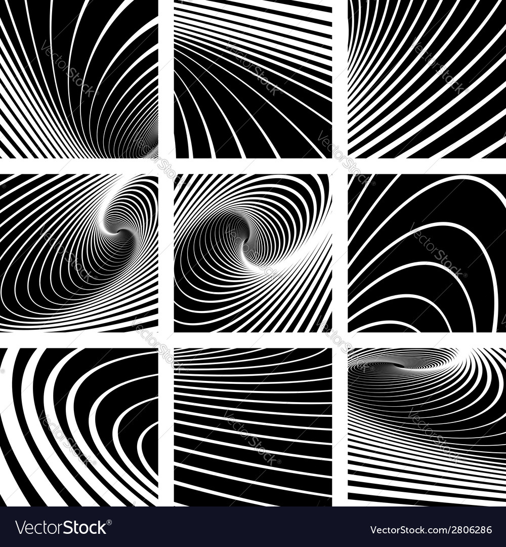 Abstract backgrounds set vector
