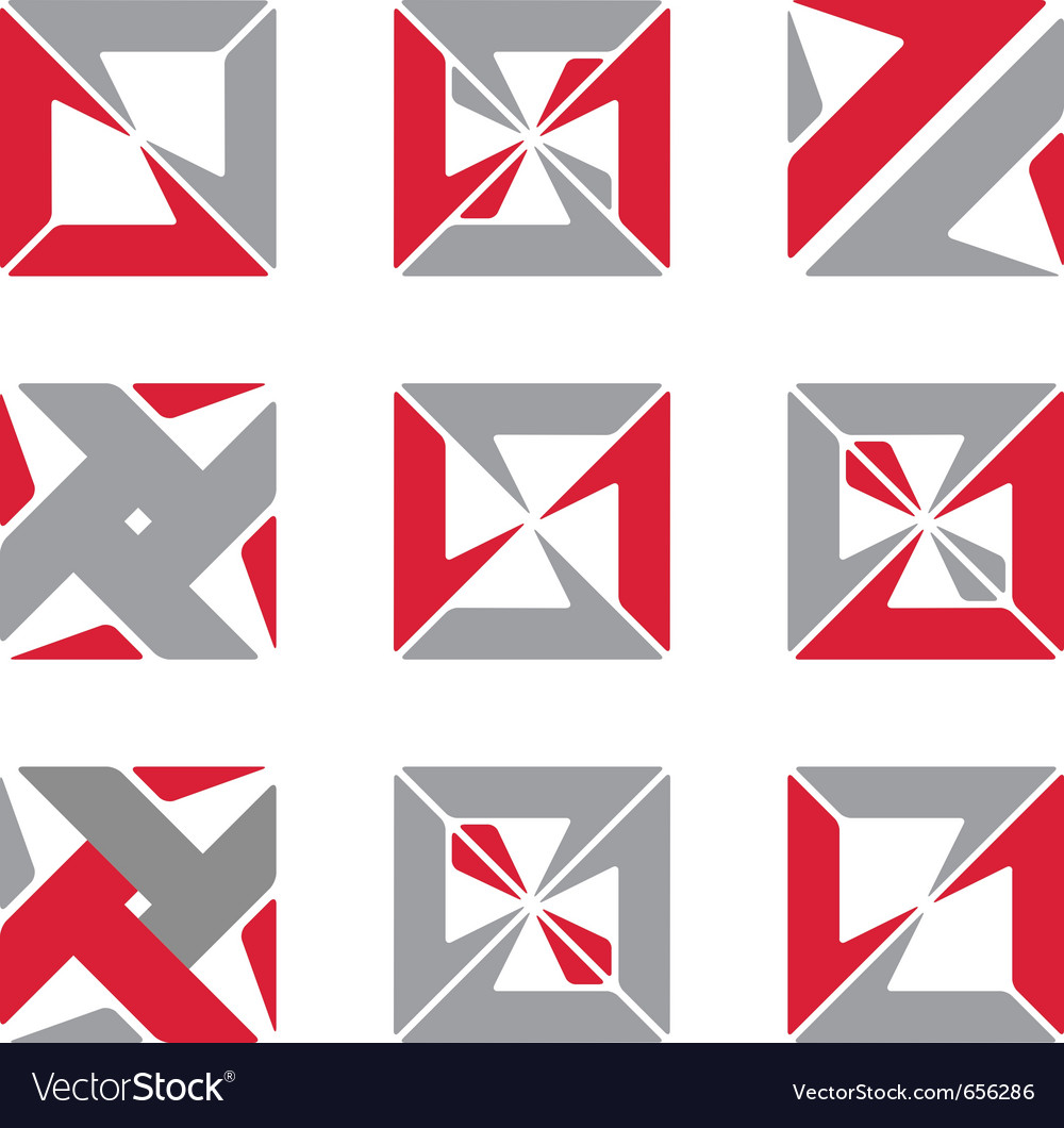 Abstract square symbols vector | Price: 1 Credit (USD $1)
