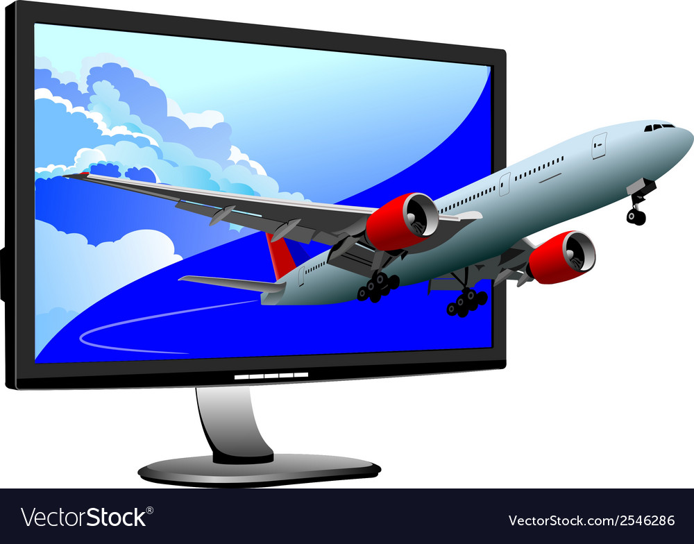 Al 0812 plane with screen 02 vector | Price: 1 Credit (USD $1)