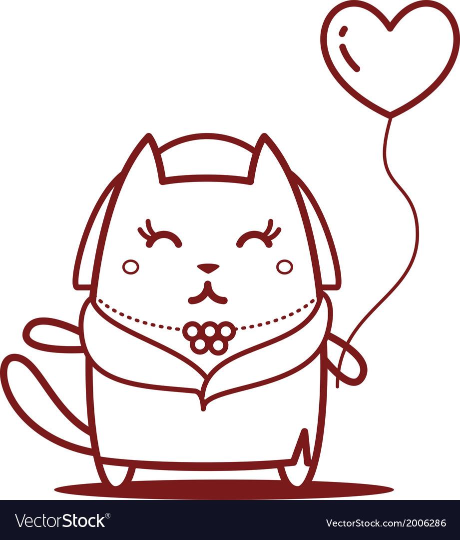 Cartoon cat character vector | Price: 1 Credit (USD $1)