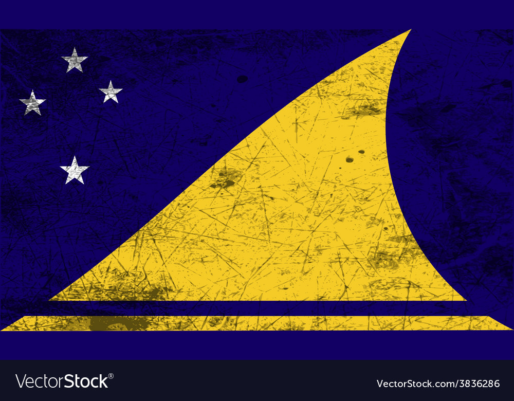 Flag of tokelau with old texture vector | Price: 1 Credit (USD $1)