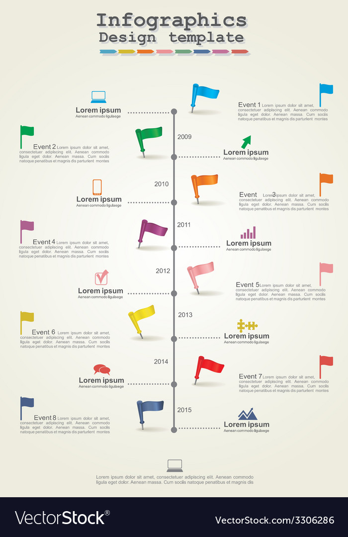 Infographics timeline element layout vector | Price: 1 Credit (USD $1)