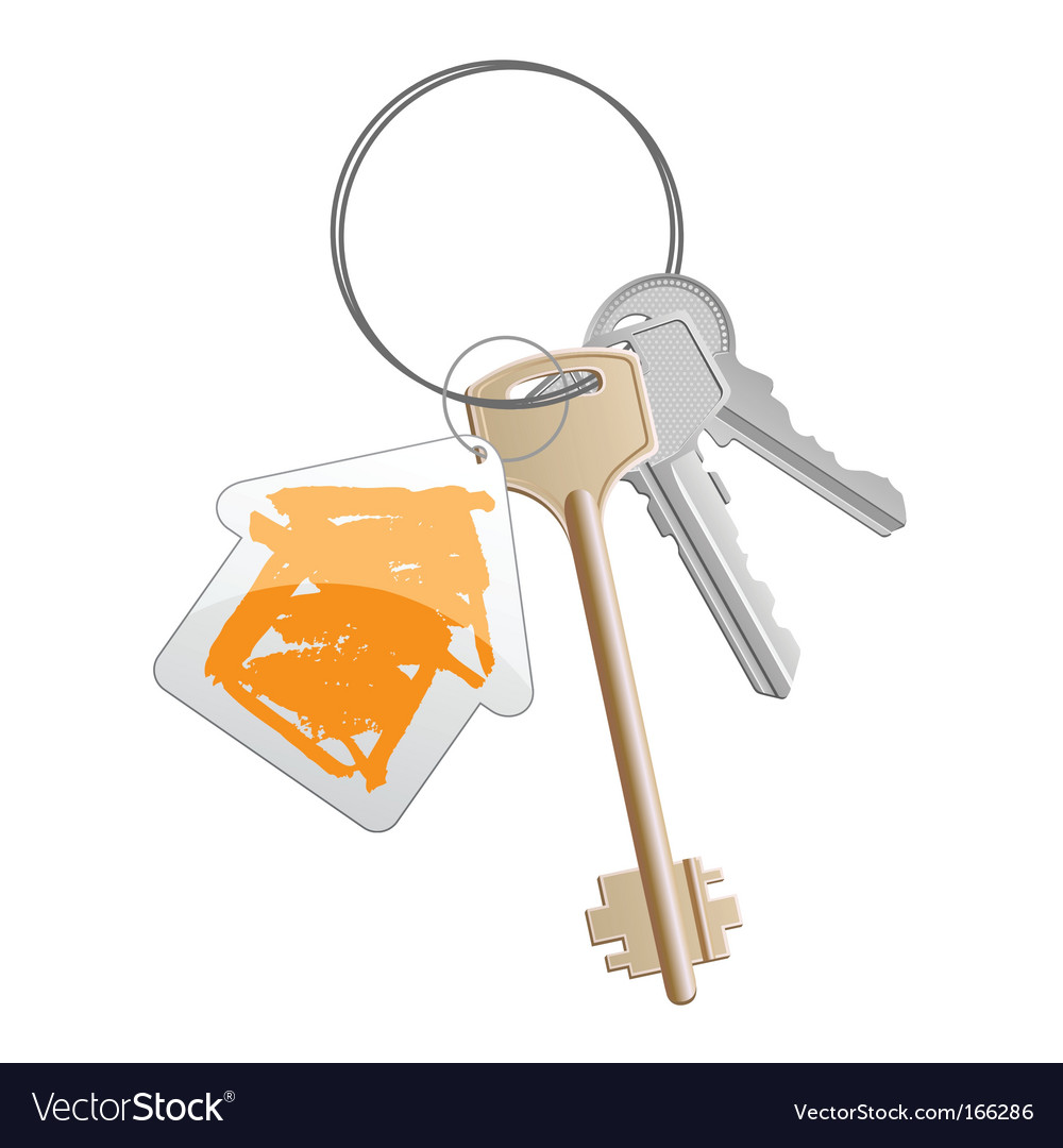 Keys orange vector | Price: 1 Credit (USD $1)
