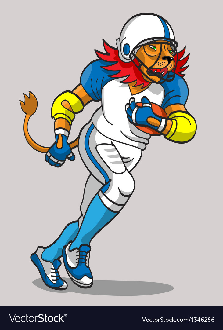 Lion football player vector | Price: 3 Credit (USD $3)