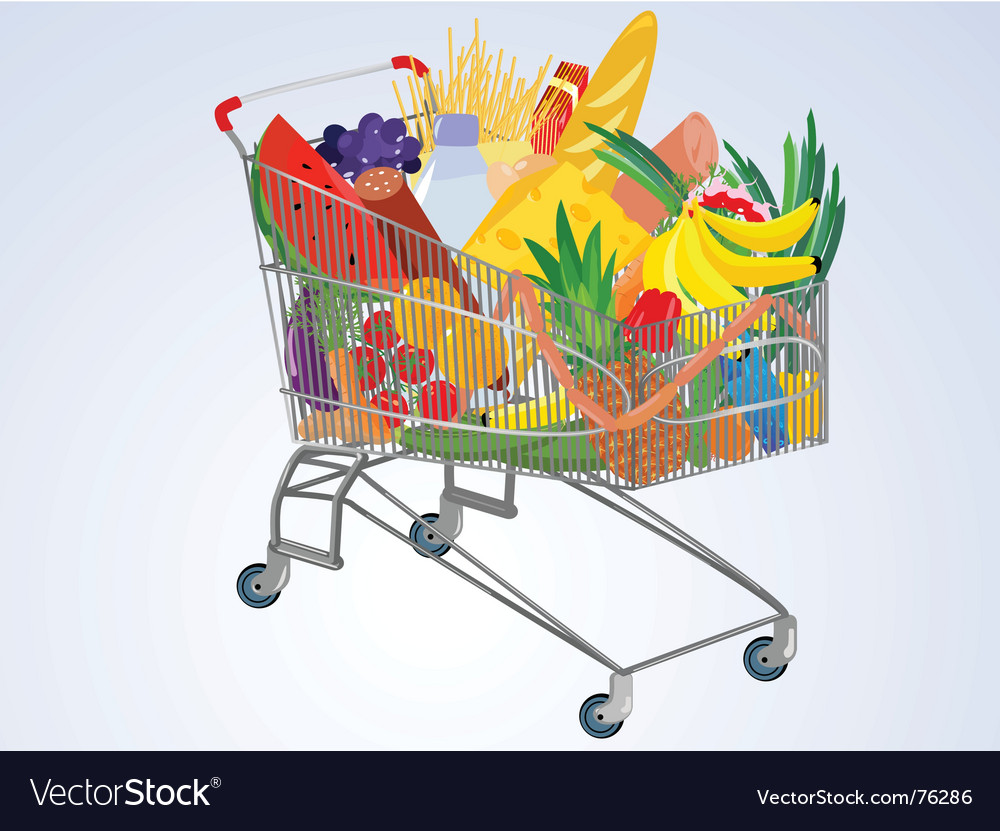 Supermarket cart vector | Price: 1 Credit (USD $1)