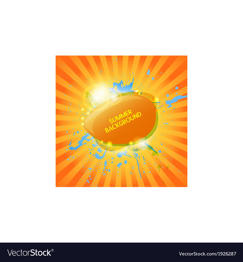 Abstract hot summer background vector | Price: 1 Credit (USD $1)