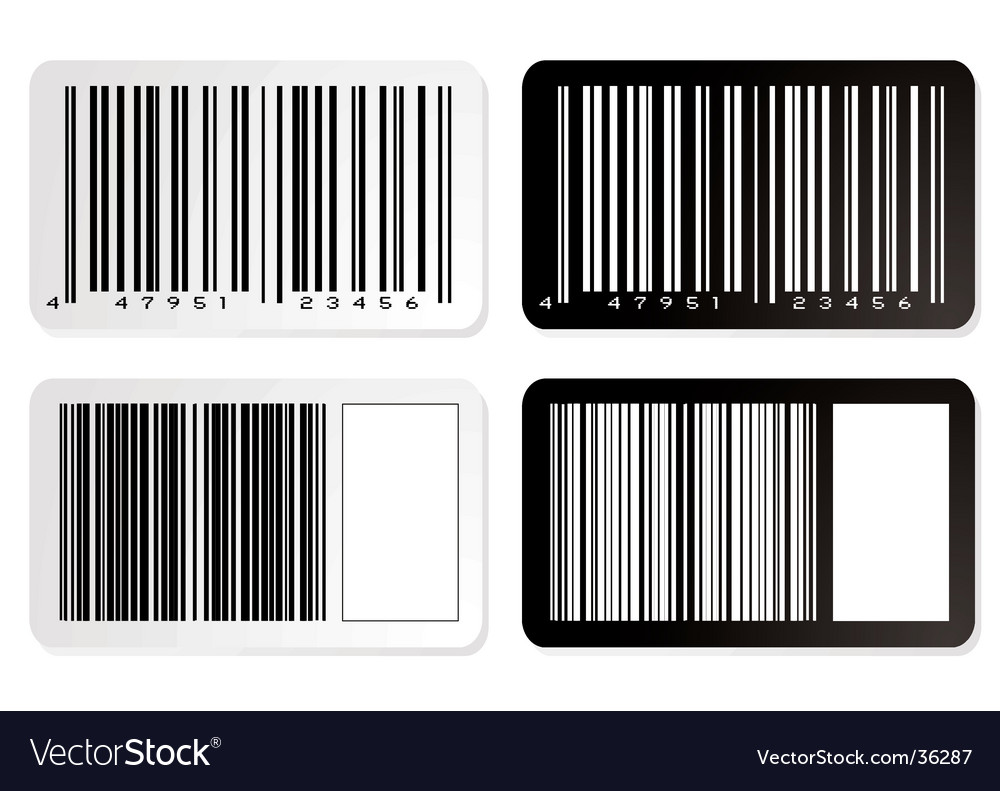 Barcode variation vector | Price: 1 Credit (USD $1)
