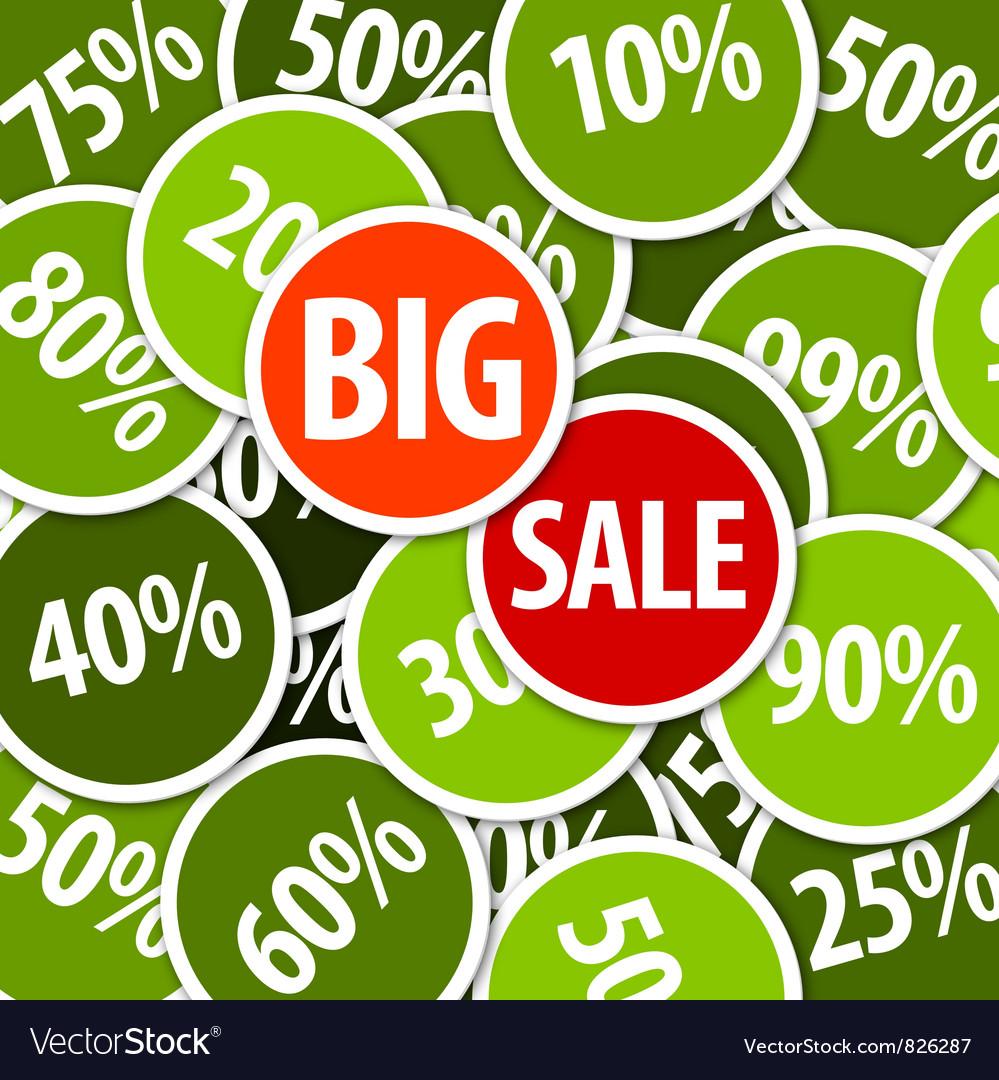 Big sale labels background vector | Price: 1 Credit (USD $1)