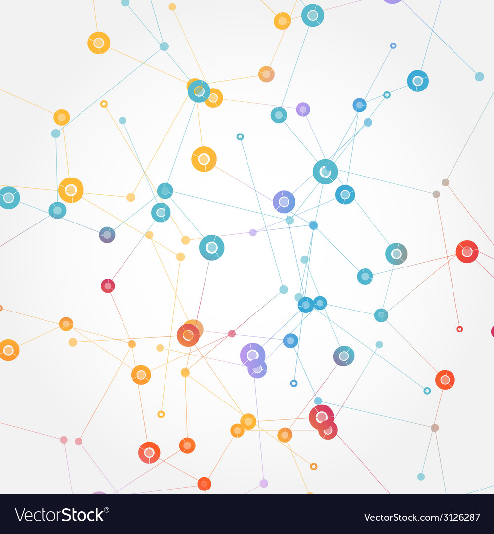 Color network connection and dna atom vector   Price: 1 Credit (USD $1)