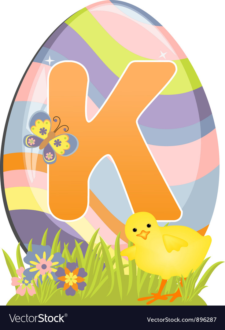 Cute initial letter k vector | Price: 1 Credit (USD $1)