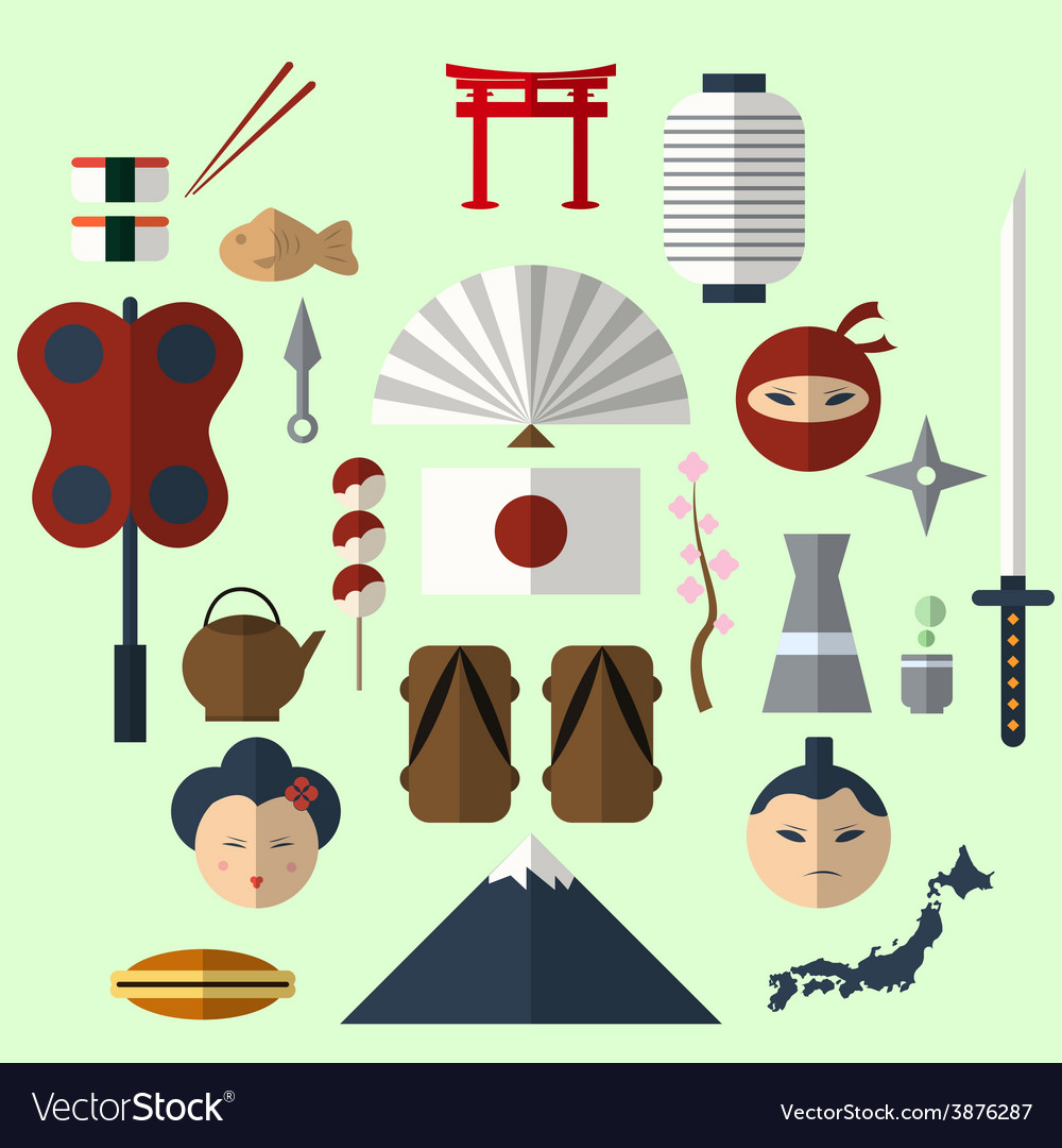 Flat japan icon vector | Price: 1 Credit (USD $1)