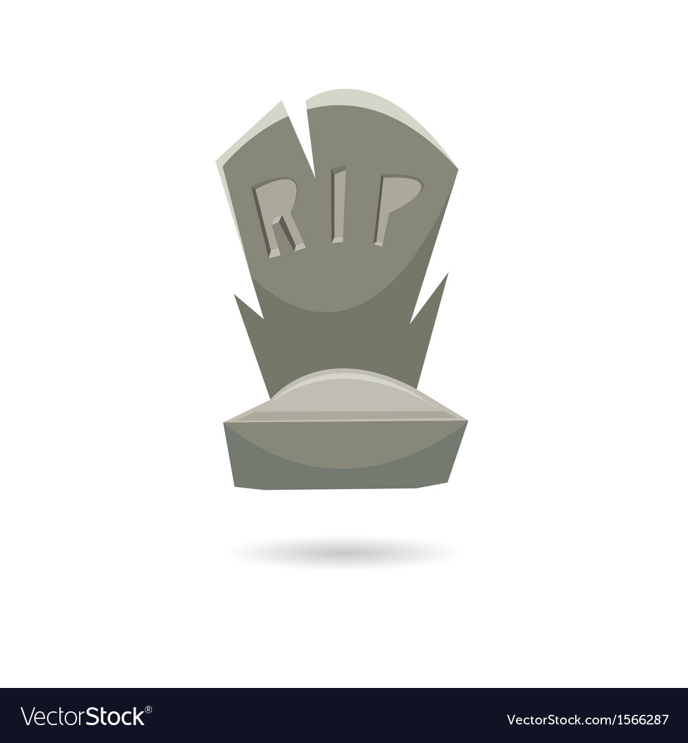 Grave isolated on a white backgrounds vector | Price: 1 Credit (USD $1)