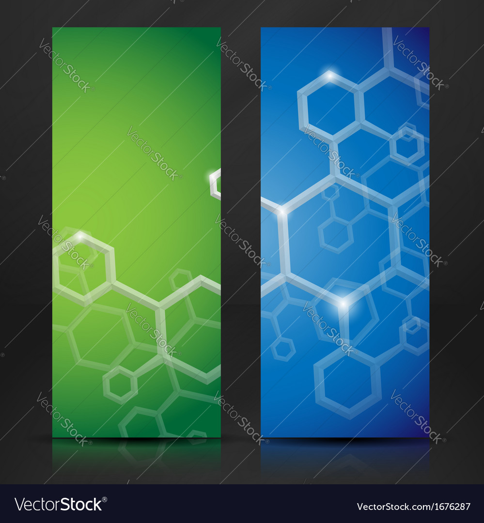 Molecule abstract banner vector | Price: 1 Credit (USD $1)