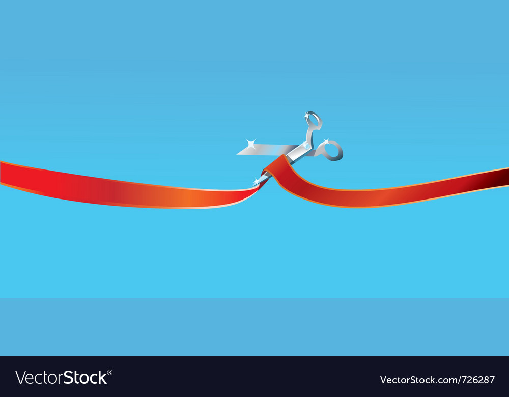 Scissors cutting ribbon vector | Price: 1 Credit (USD $1)