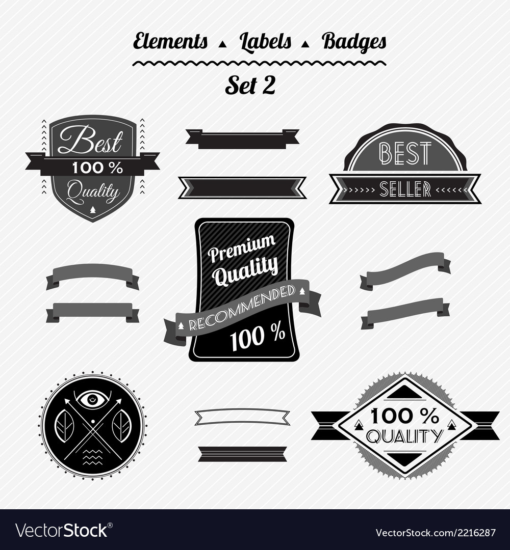 Set 2 elements labels and badges vector | Price: 1 Credit (USD $1)