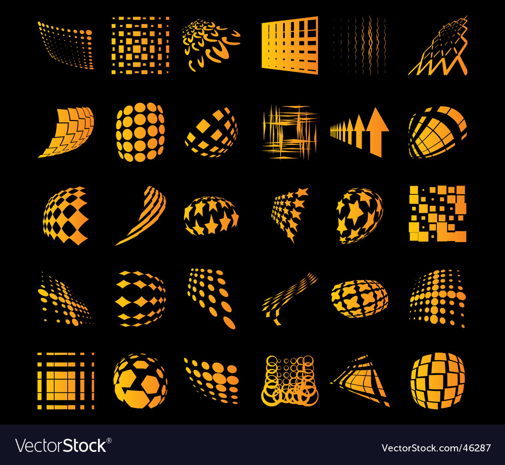 Various dots dynamic objects vector | Price: 1 Credit (USD $1)