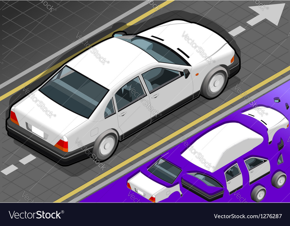 White car vector | Price: 1 Credit (USD $1)