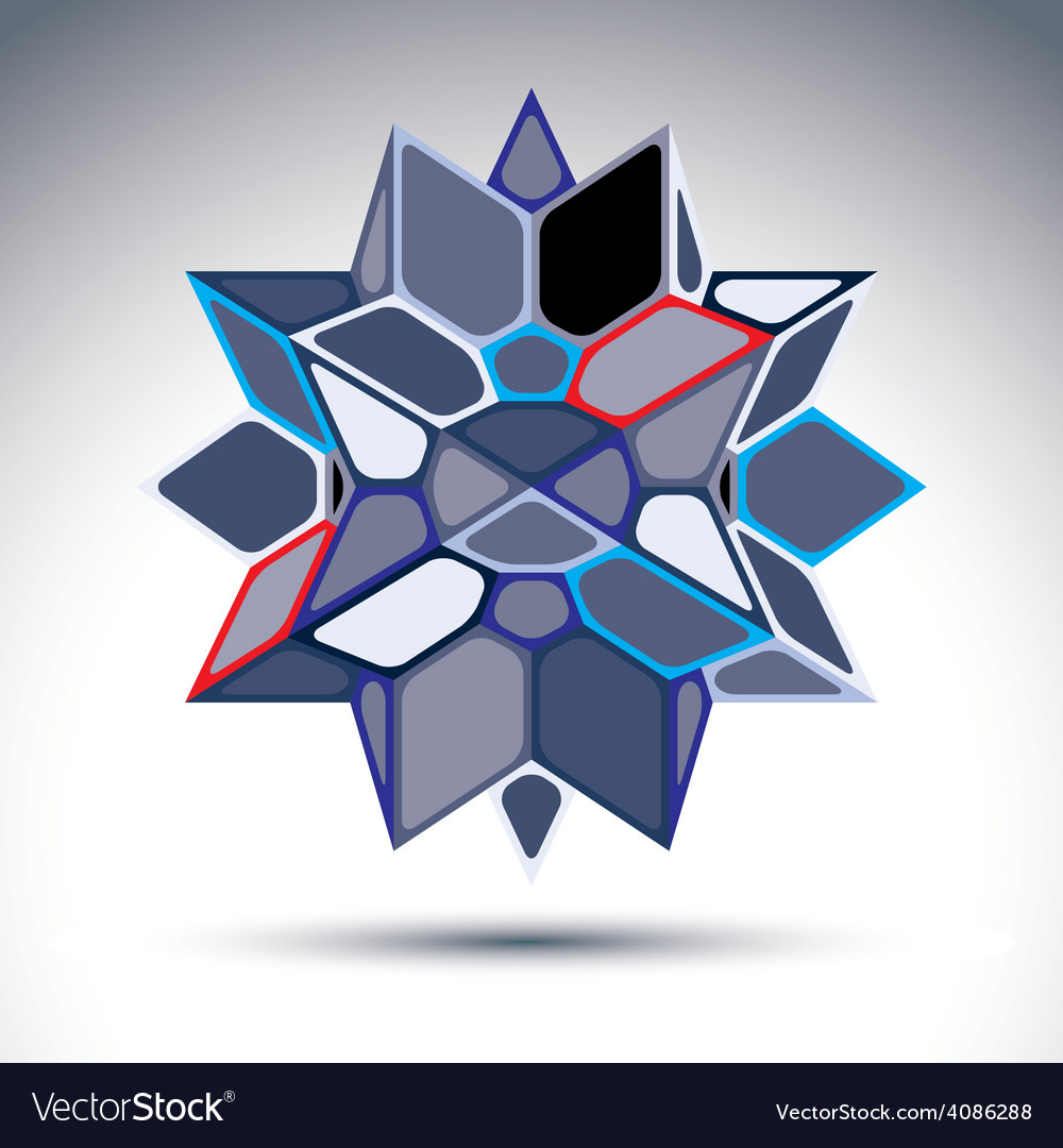 3d precious stone indigo geometric stylish figure vector | Price: 1 Credit (USD $1)